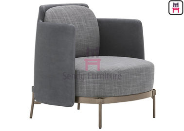 Modern Fabric Upholstered Single Seat Sofa Chair With Stainless Steel Legs